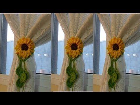 CORTINA Y PERCIANAS TEJIDAS A CROCHET PARA VENTANAS - YouTube Mona - cortinas para ventanas