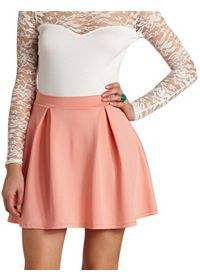Skater Skirt, Flirty Skirts, Crochet Mini Skirt, Black Lace Skirt, : Charlotte Russe