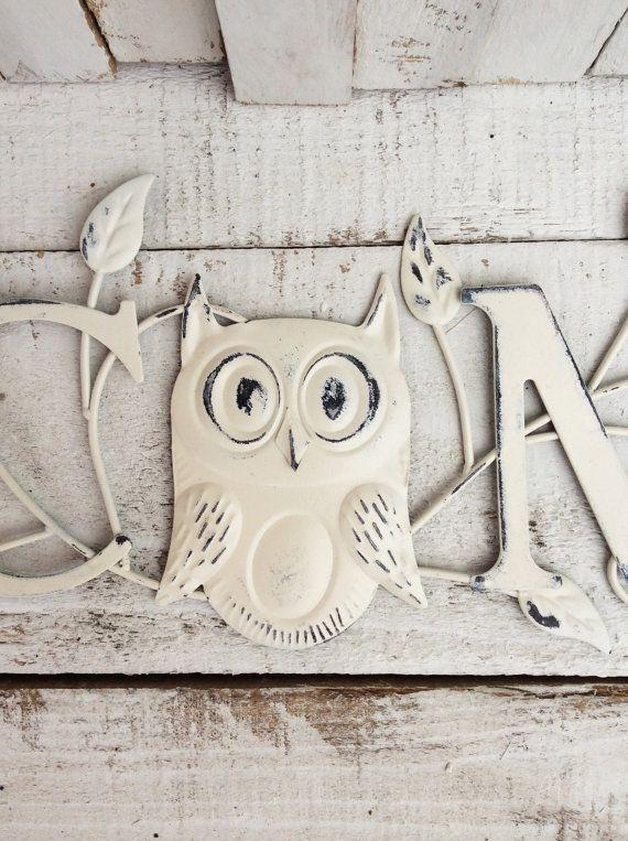 Indoor Outdoor Metal Welcome Sign Shabby Chic White Garden Sign Home And Garden Above Door Decor Owl Hom Metal Welcome Sign Metal Wall Sign Indoor Outdoor
