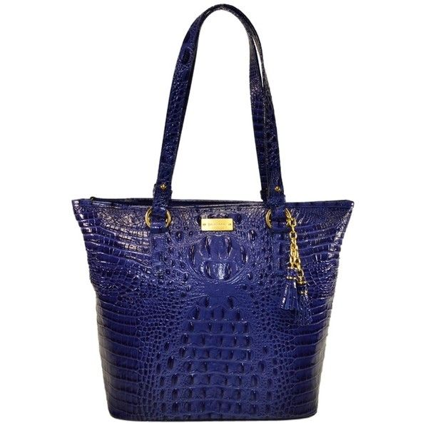 Pre Owned Brahmin Asher Melbourne Turkish Blue Tote Bag 254 Liked On Polyvore Featuring Bags Handbags Tote Bags T Blue Tote Bag Brahmin Purses Tote Bag