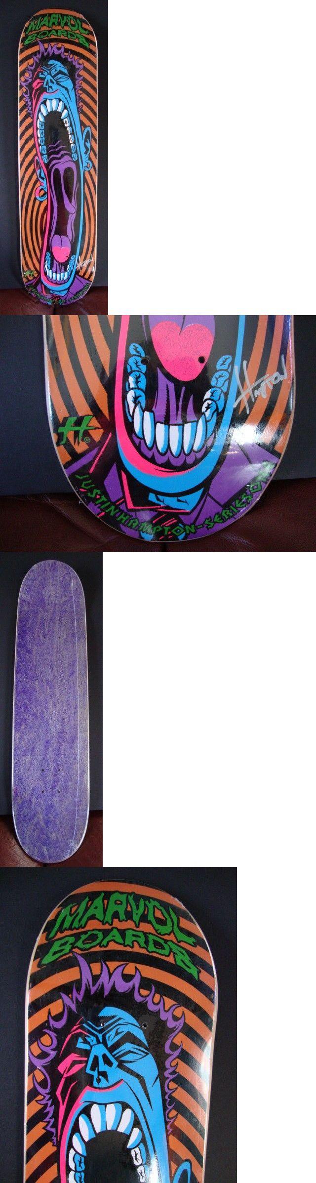 4b5cc3ac Decks 165944: Justin Hampton Marvol Skate Deck Orange Edition Signed -> BUY  IT NOW ONLY: $225 on eBay!