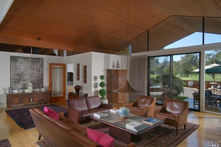 Mid Century Modern High Ceilings Hardwood Floors Dual Pane Windows And Golf Course