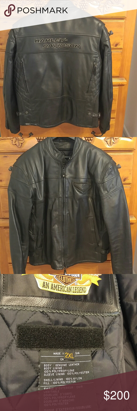 Men's Harley Davidson leather winter jacket Excellent