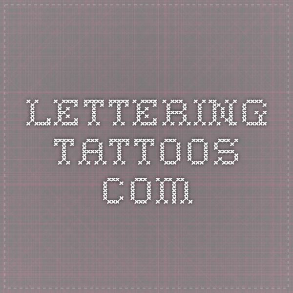 Cool Fonts For Tattoos Generator: Tattoos [& Piercings]