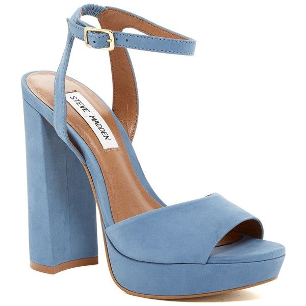 Steve Madden Brrit Platform Sandal (282645 PYG) ❤ liked on Polyvore  featuring shoes,
