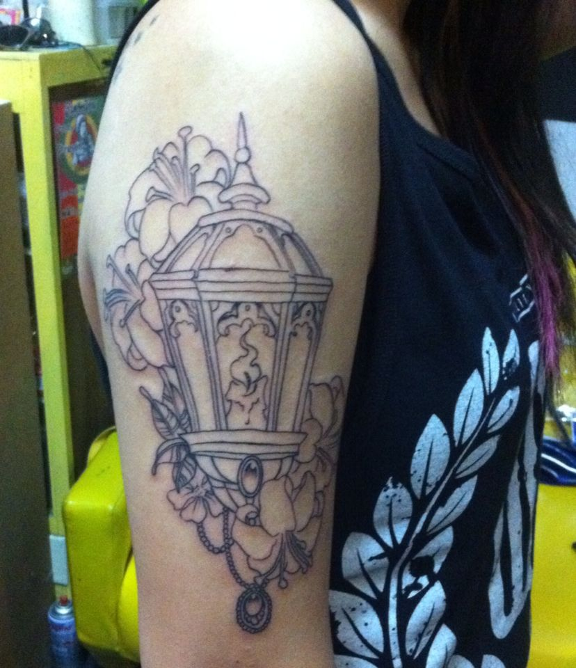 bd23a921e Lamp tattoo by gof the ivory god tattoo surin thailand | The ivory ...