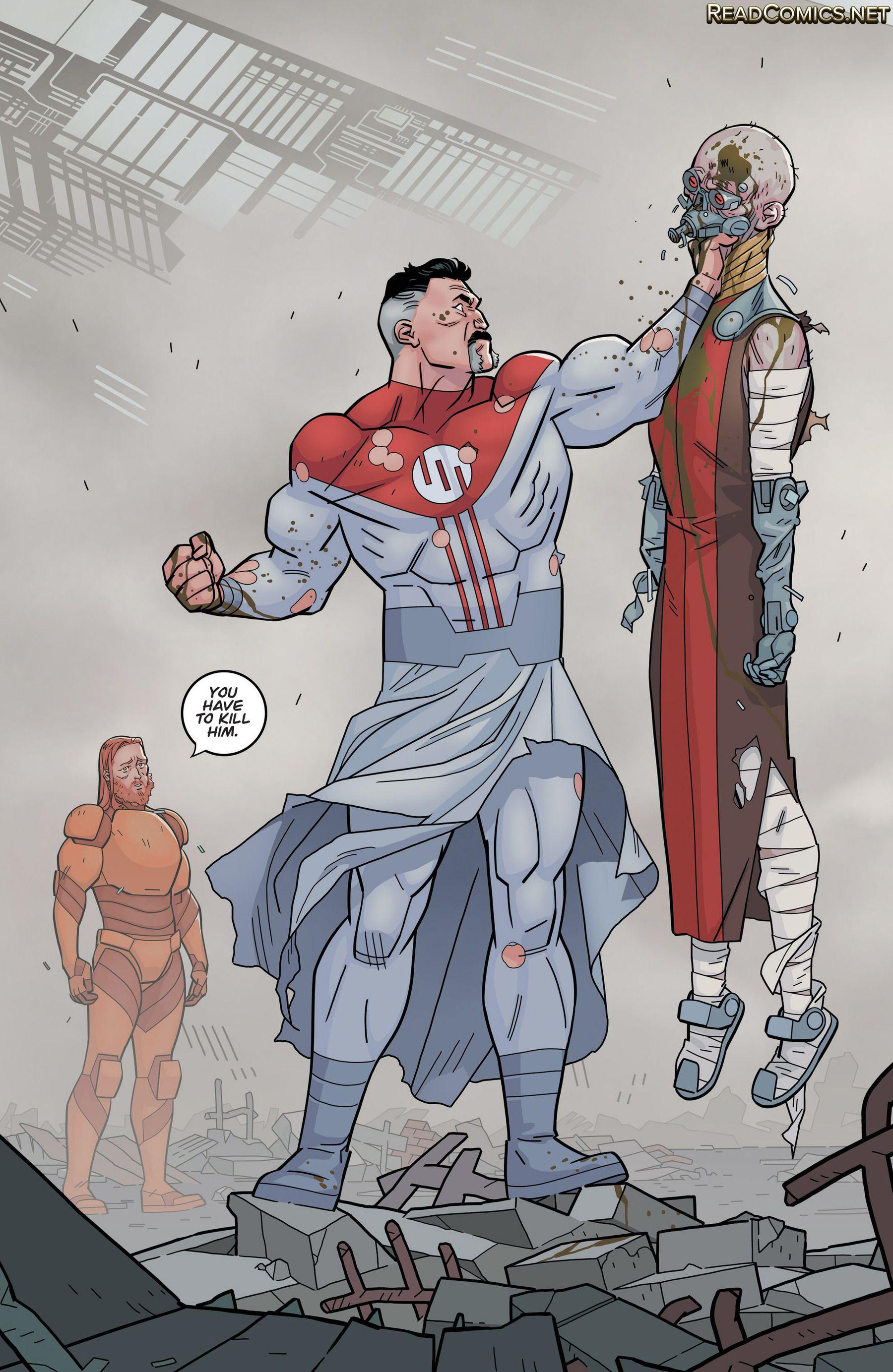 Robot and Omni-Man from Invincible | Marvel comics vintage, Invincible comic, Superhero art
