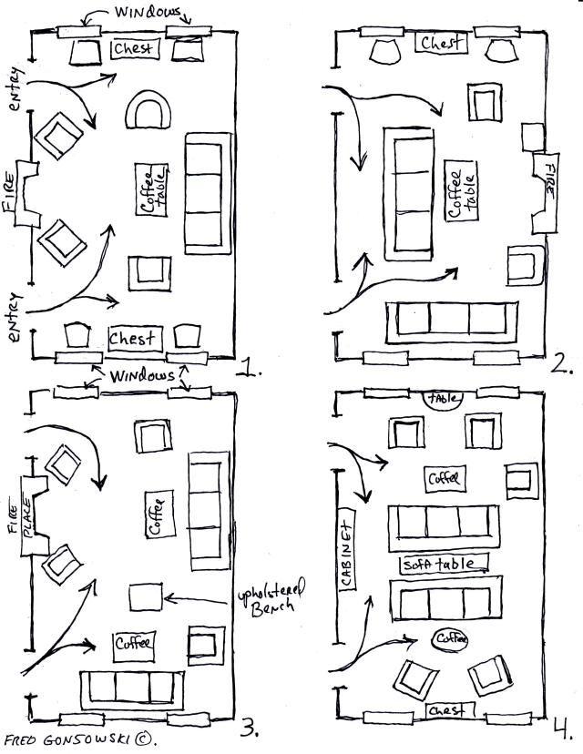 Furniture Setup For Rectangular Living Room