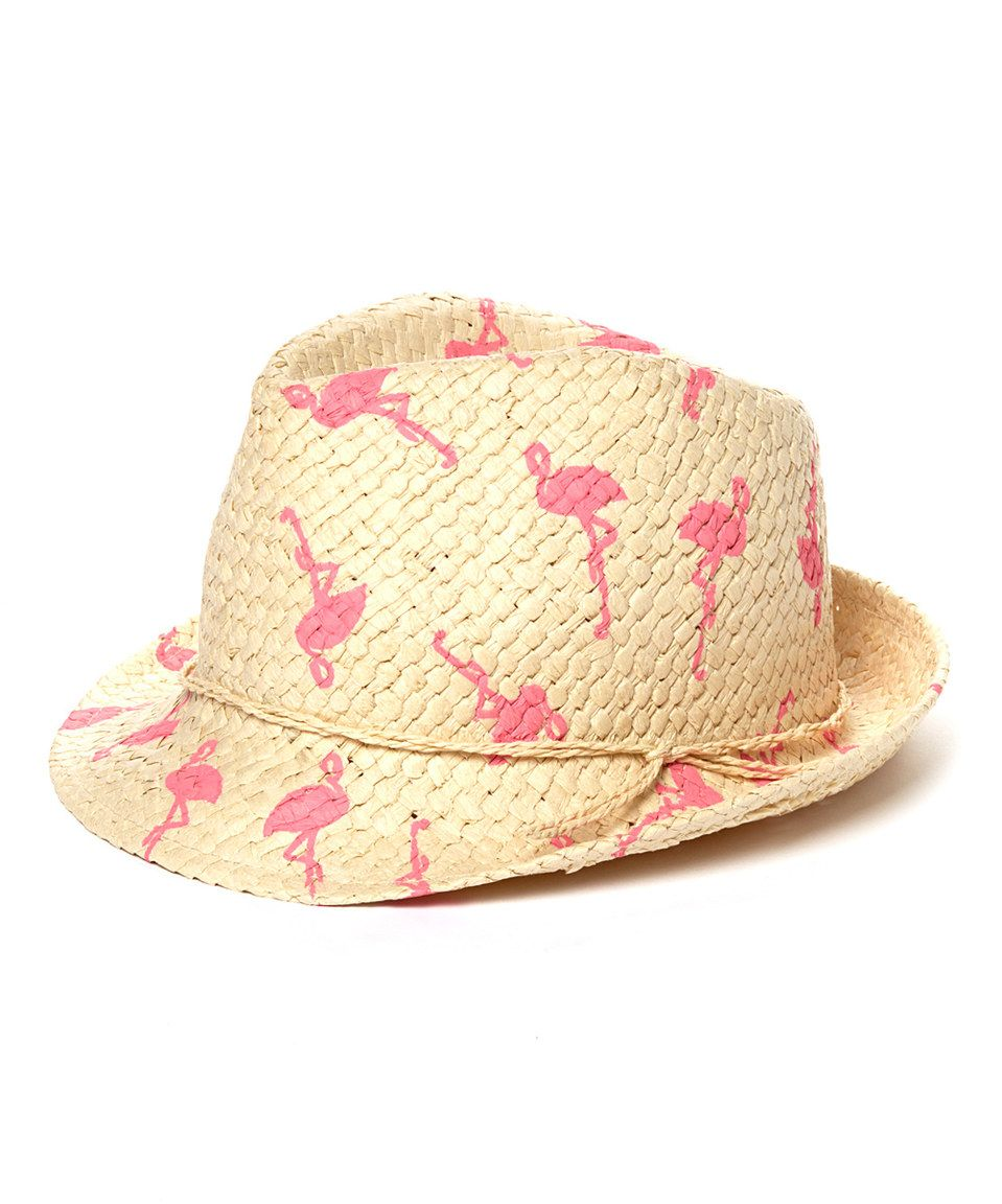 Love this Pink   Natural Flamingo Fedora by David   Young on  zulily!   zulilyfinds 74fc5f523a2