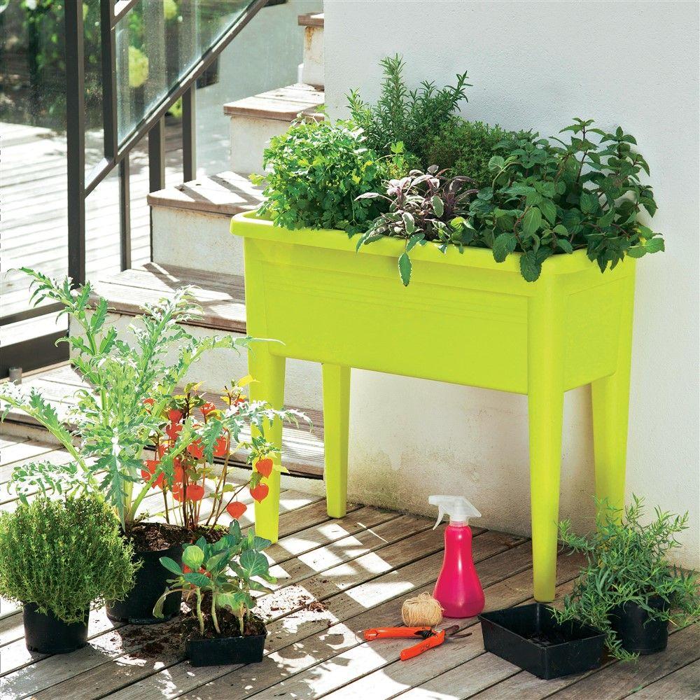 Table culture XXL Green Basics, lime vert L.75,5 x H.65,1 cm ...