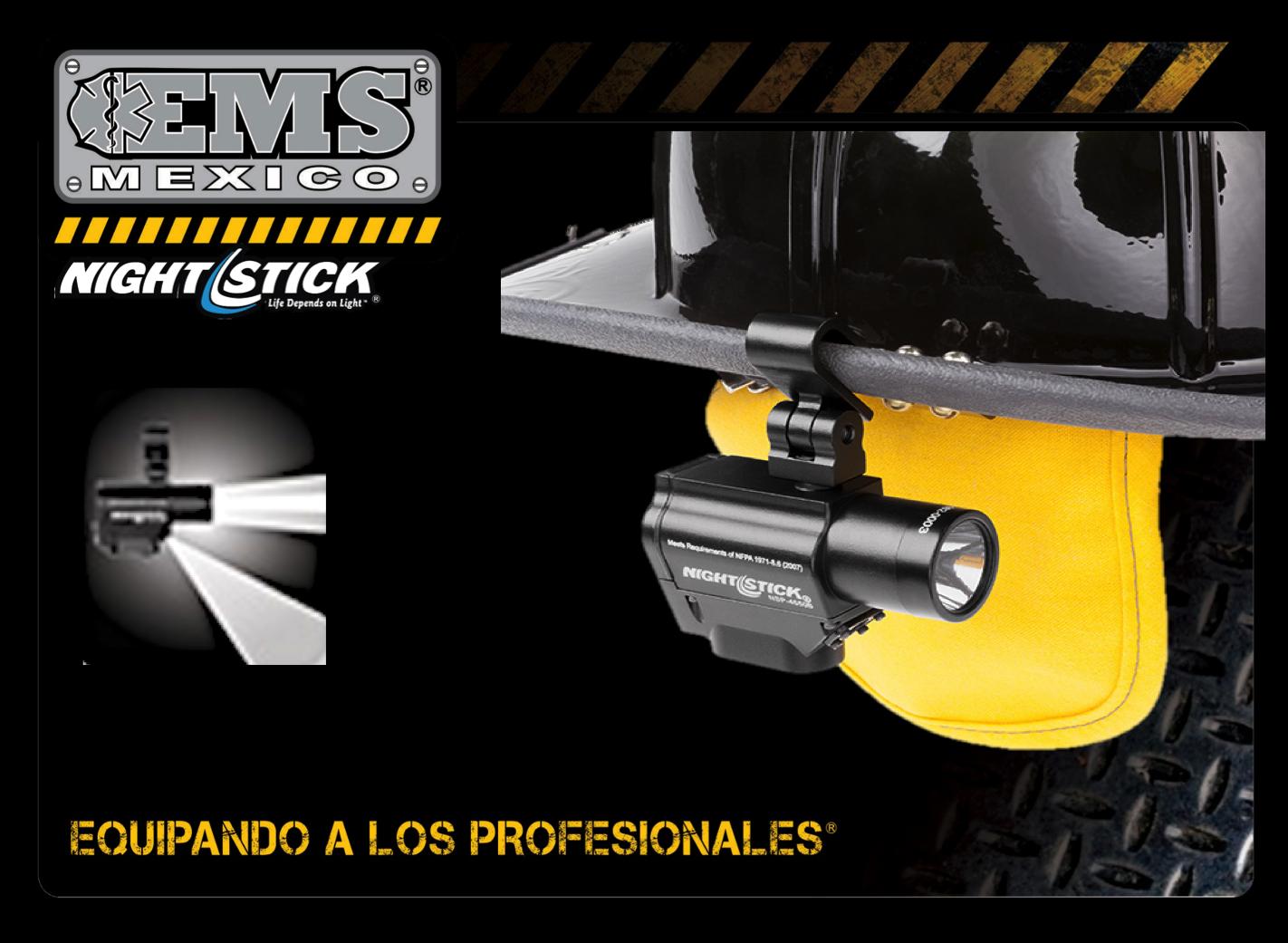 #EMSTip Iluminación manos libres con ajuste en casco #911NS Nightstick  #SoyEMS EMS Mexico | Equipando a los Profesionales º Funcionalidad: https://youtu.be/AH8lAfY6iFU º Versatil en iluminación a manos libres. º220 lumens y distancia de iluminación 183m  º Lumens Principal 220/100/30, Lumens secundaria: 100/50/15. Distancia de iluminación de la lámpara principal: 183/120/59m. Tiempo de uso coninuo de la lámpara Principal: 3.5hr/10hr/33,5hr.