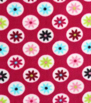 Anti-Pill Fleece Fabric Floral Dots