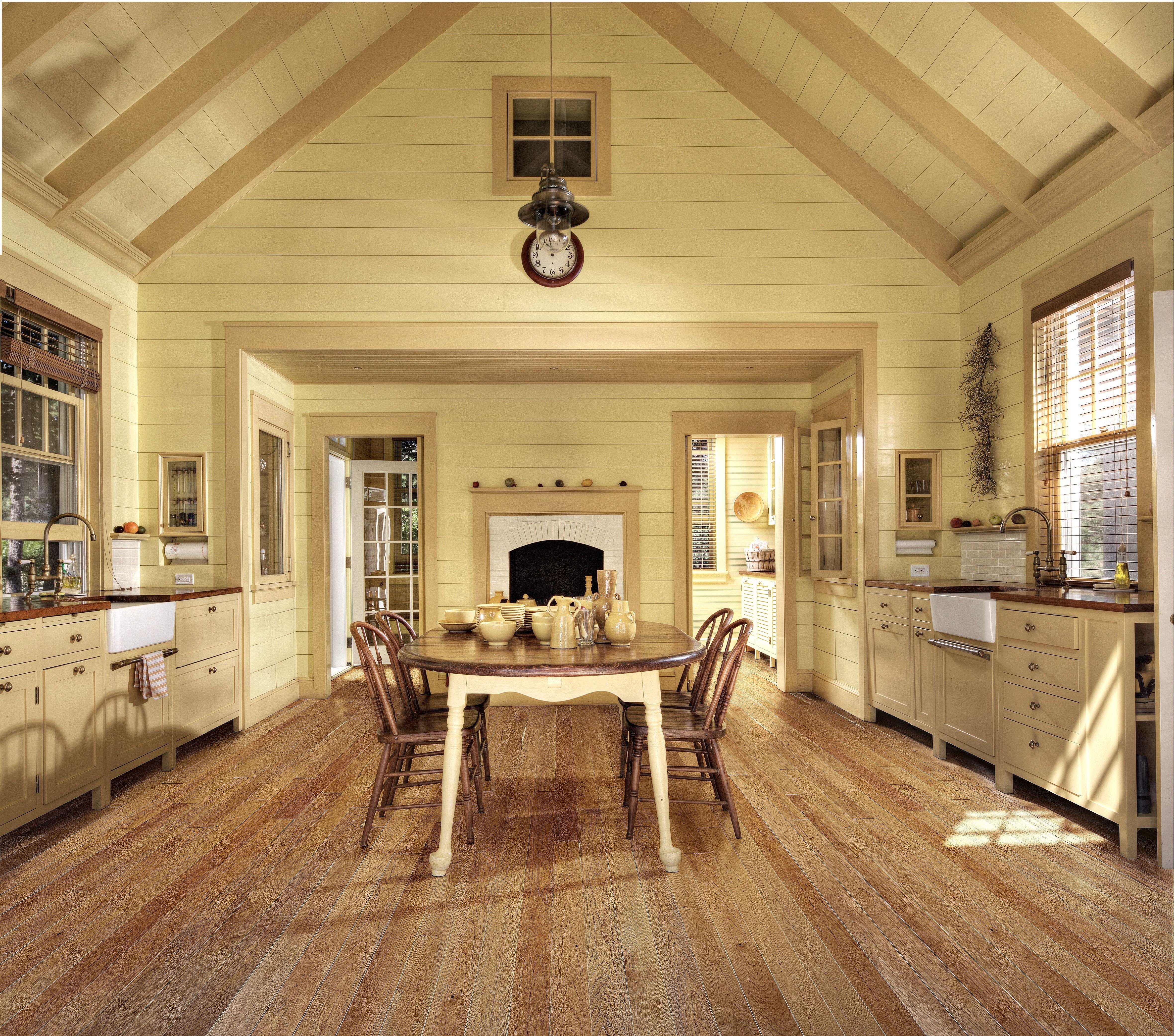 Open dining room with beautiful hardwood flooring