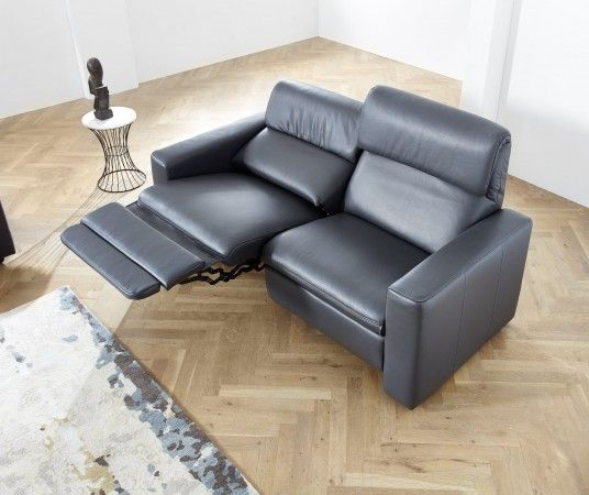 Ledersofa 2 5 sitzer mit relaxfunktion links wall free for Ledersofa mit relaxfunktion