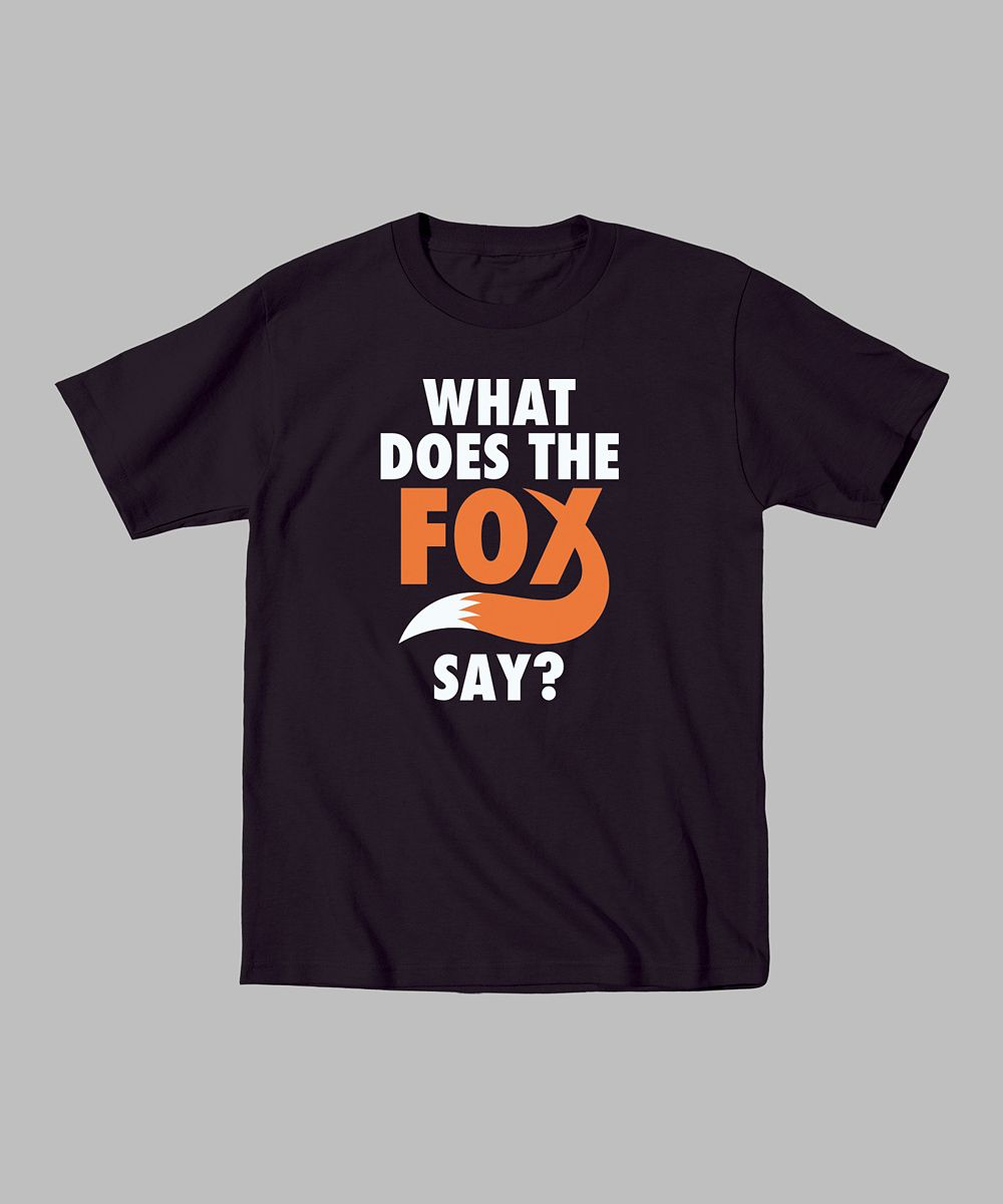 9390a9aff420 Black Tail  What Does the Fox Say   Tee - Toddler   Kids