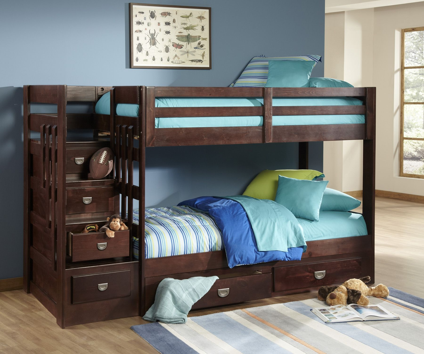 bunk bed fun with our ponderosa collection for kids best rh pinterest com rooms to go kids bunk beds for girls