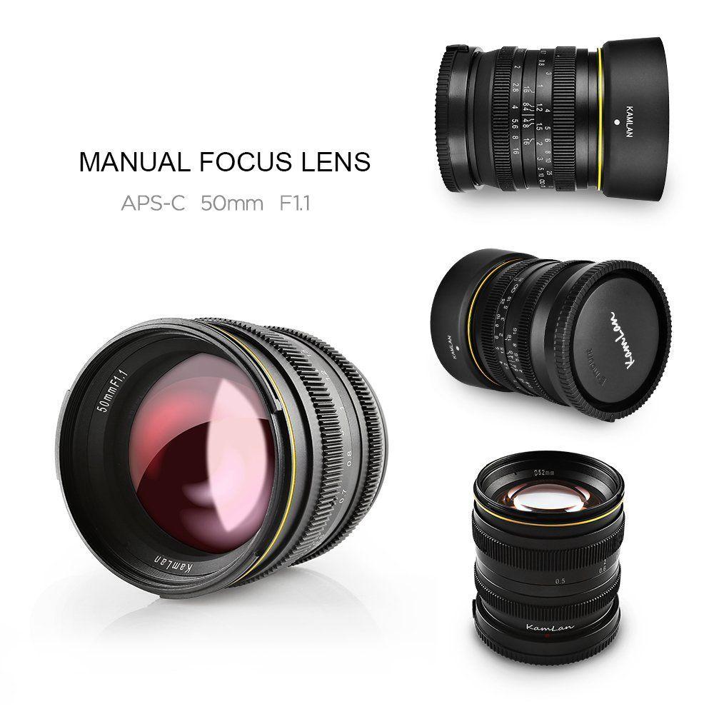 APS-C Large Aperture Kamlan 50mm/F1.1 Standard Prime Lens with X ...