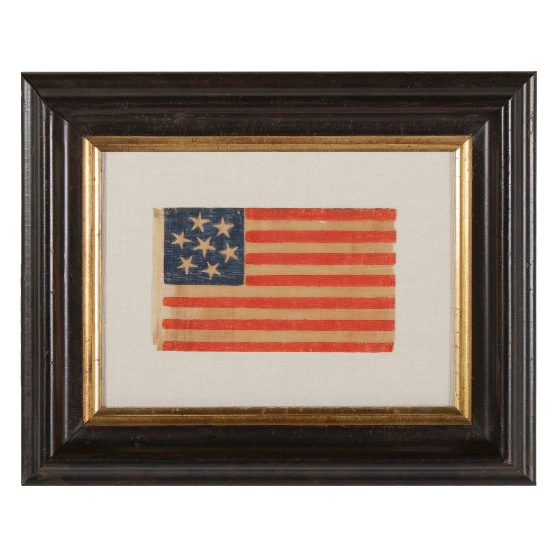 7 Star Confederate Sympathizer Parade Flag 1stdibs Com Flag Confederate Antiques