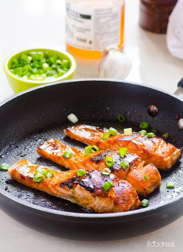 Easy Crispy Honey Garlic Salmon Crispy On The Outside