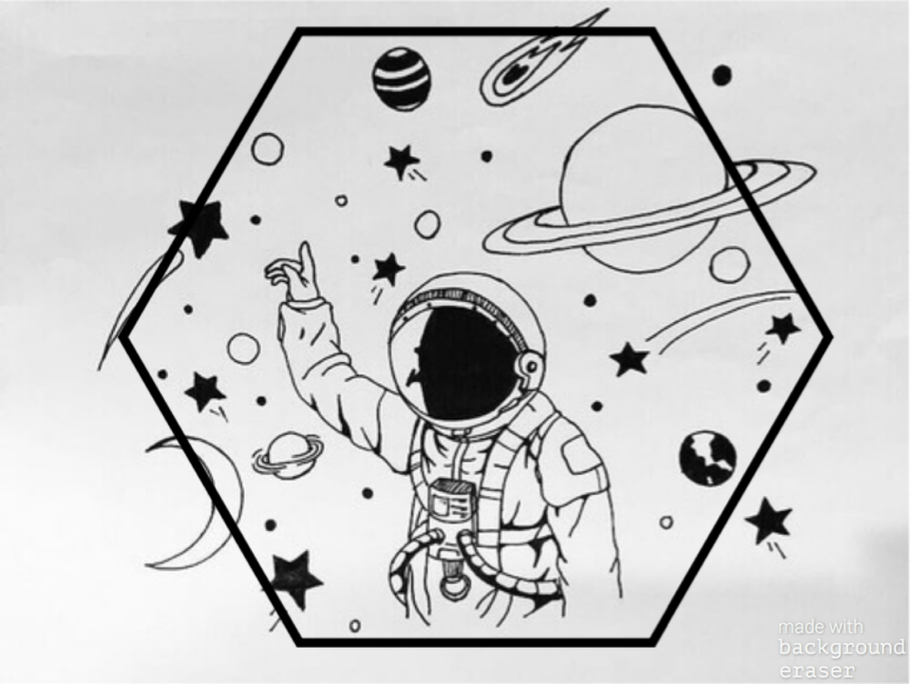 This is a graphic of Hilaire Space Art Drawing