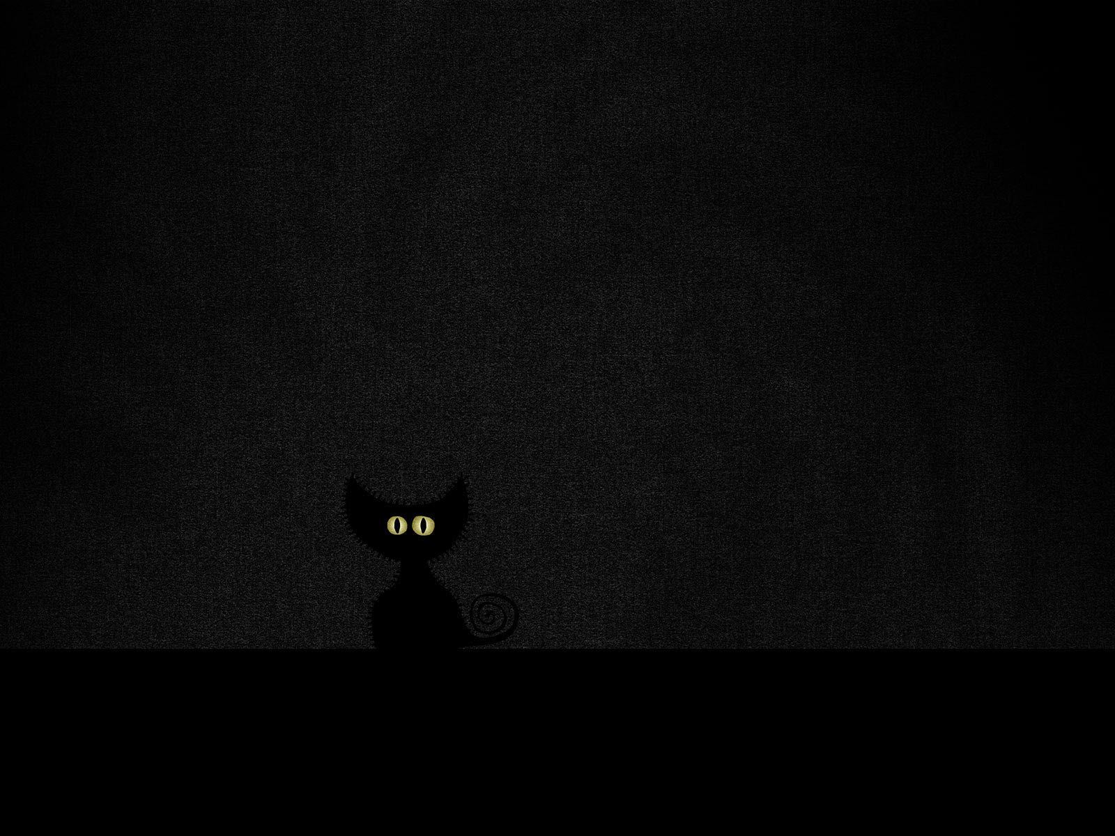 black background black cat image hd wallpaper