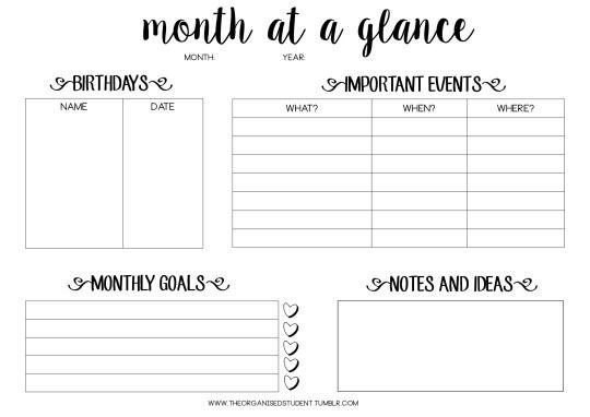 Tumblr Student Organization Planner Study Planner