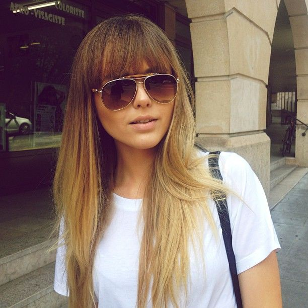 High Quality Love This Hairstyle, Straight Long Hair With Full Fringe