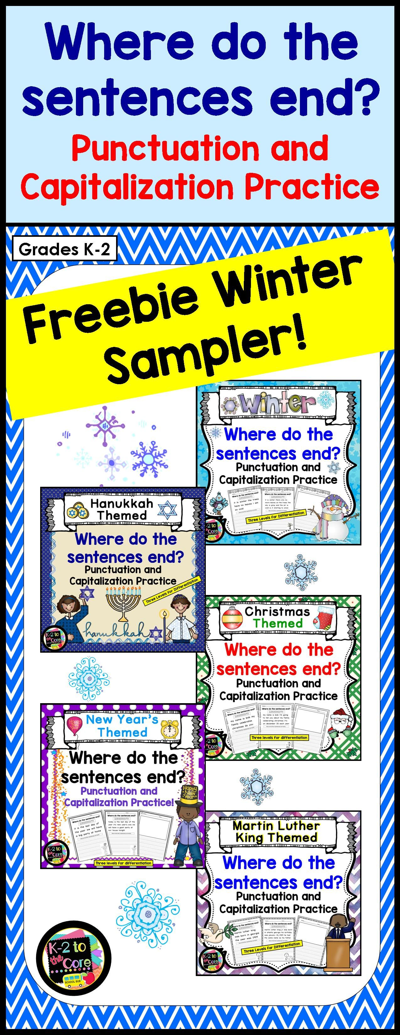 Writing Capitalization And Punctuation Practice Free