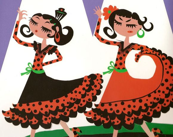 Flamencas Susana Subirana Flamenco Flamenco Dibujo Ilustraciones