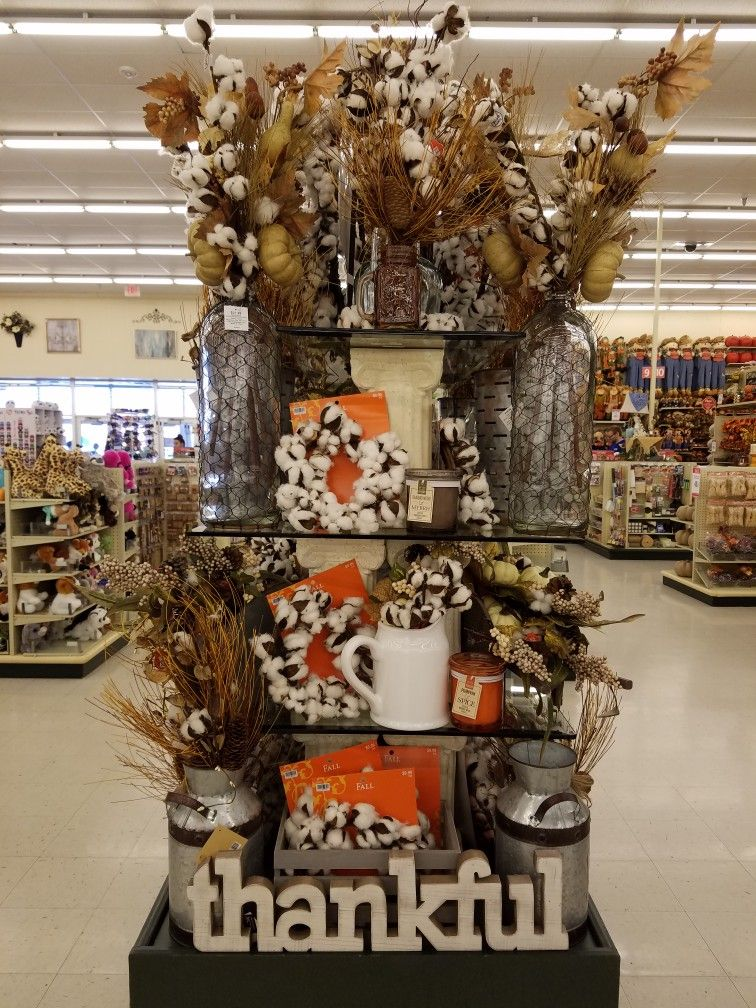 Hobby Lobby Halloween Decorations 2019.Fall 2017 Hobby Lobby Cotton Display Hobby Lobby Designers