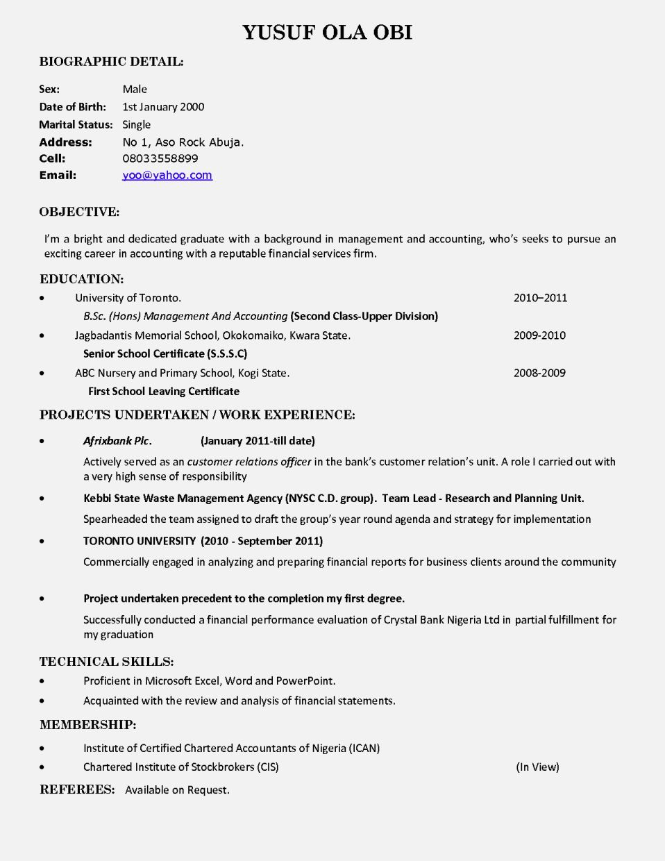 fresh graduate resume application letter for sample without work experience - Sample Resume Graduate