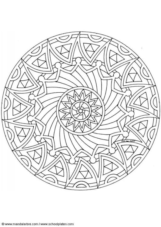 Coloring page mandala-1502k   Things to color   Pinterest   Colorear ...