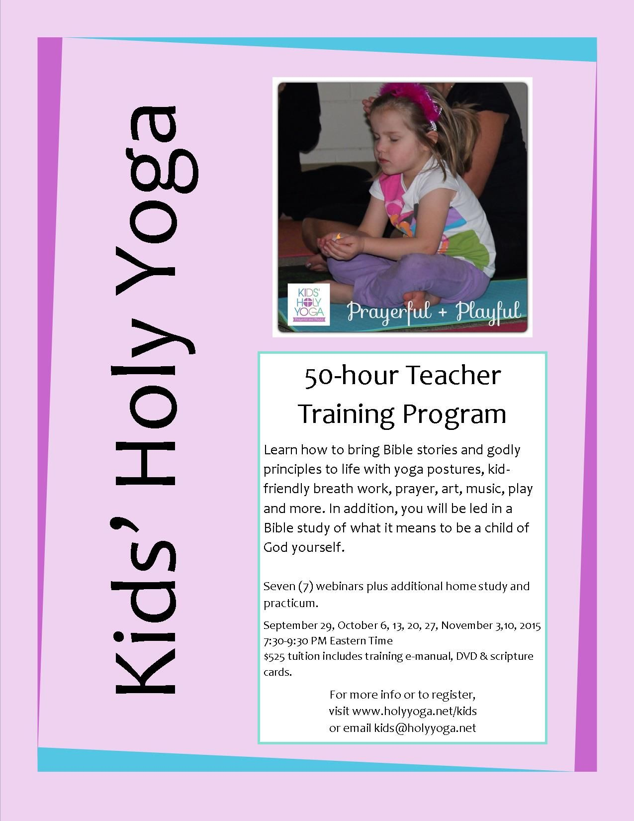 Kids Holy Yoga Instructor Training