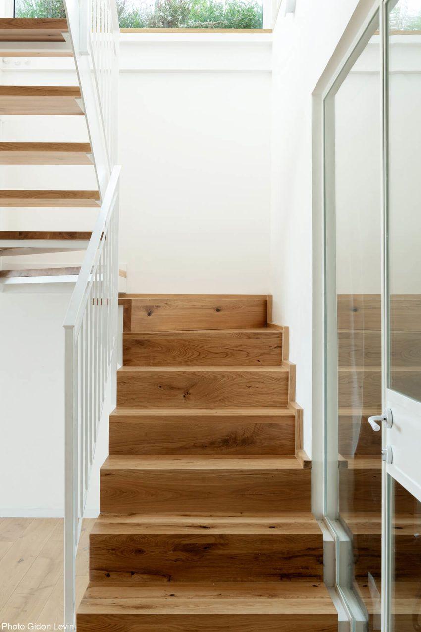 155sqm Rooftop Apartment Herzliya Modern Staircase Wood Steps