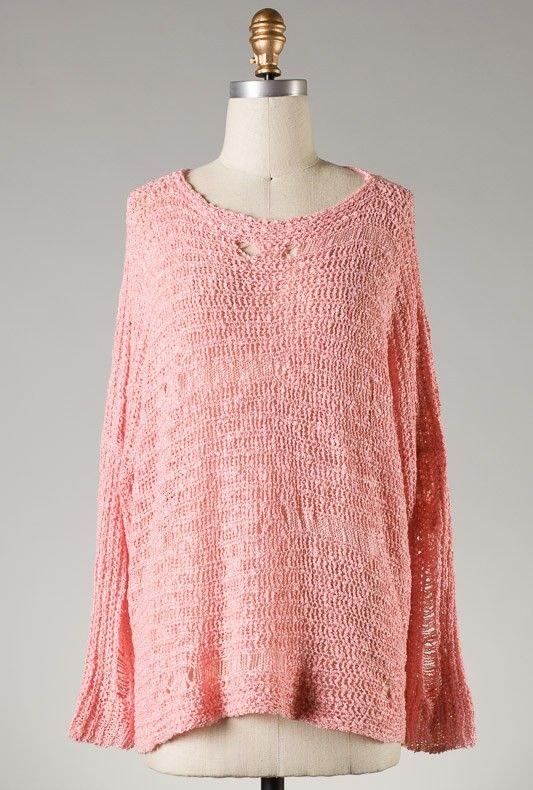 Sweater - Soft Spoken Blue   Cream Color Block Cable and Lattice Knit  Sweater ae14ae673