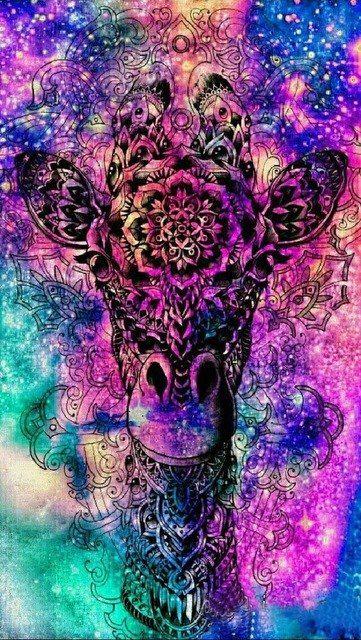 5D Diamond Painting Cosmic Giraffe   Wallpaper   Galaxy ...