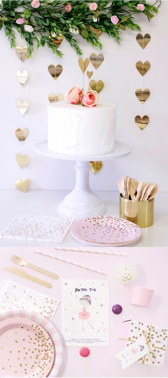 Chic Valentines Party Decor party Pinterest Ballerina party