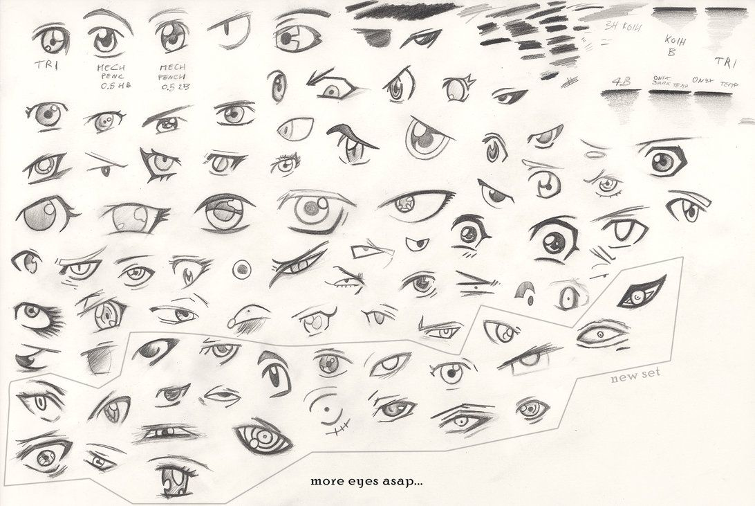 anime+cheat+sheet manga eyes tutorial 2nd edit by zio