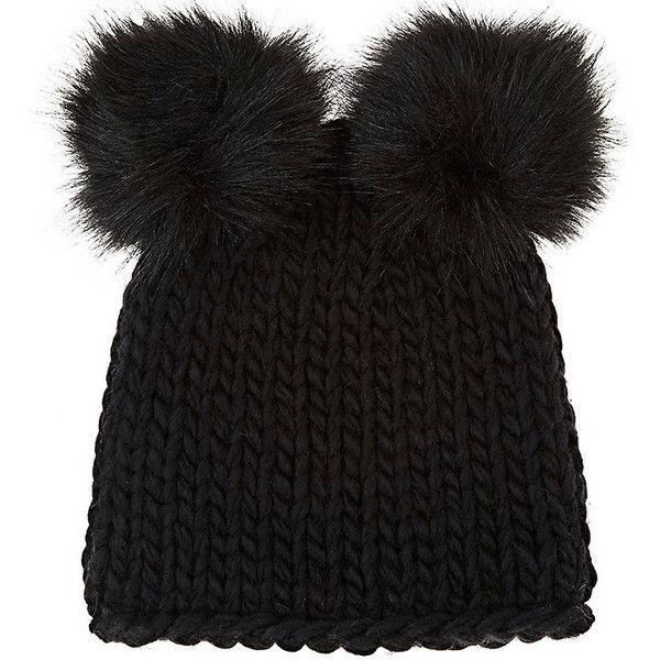26b1c871a30 Barneys New York Women s Wool-Blend Double Pom-Pom Hat (225 BRL ...