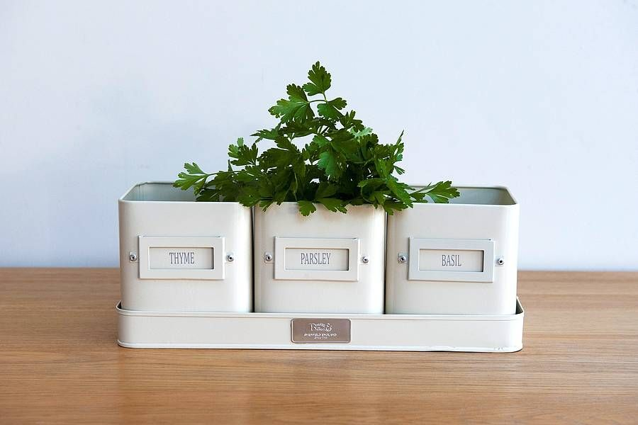 Superb Are You Interested In Our Windowsill Herb Pots ? With Our Set Of 3 Planters  For Growing Kitchen Herbs You Need Look No Further.
