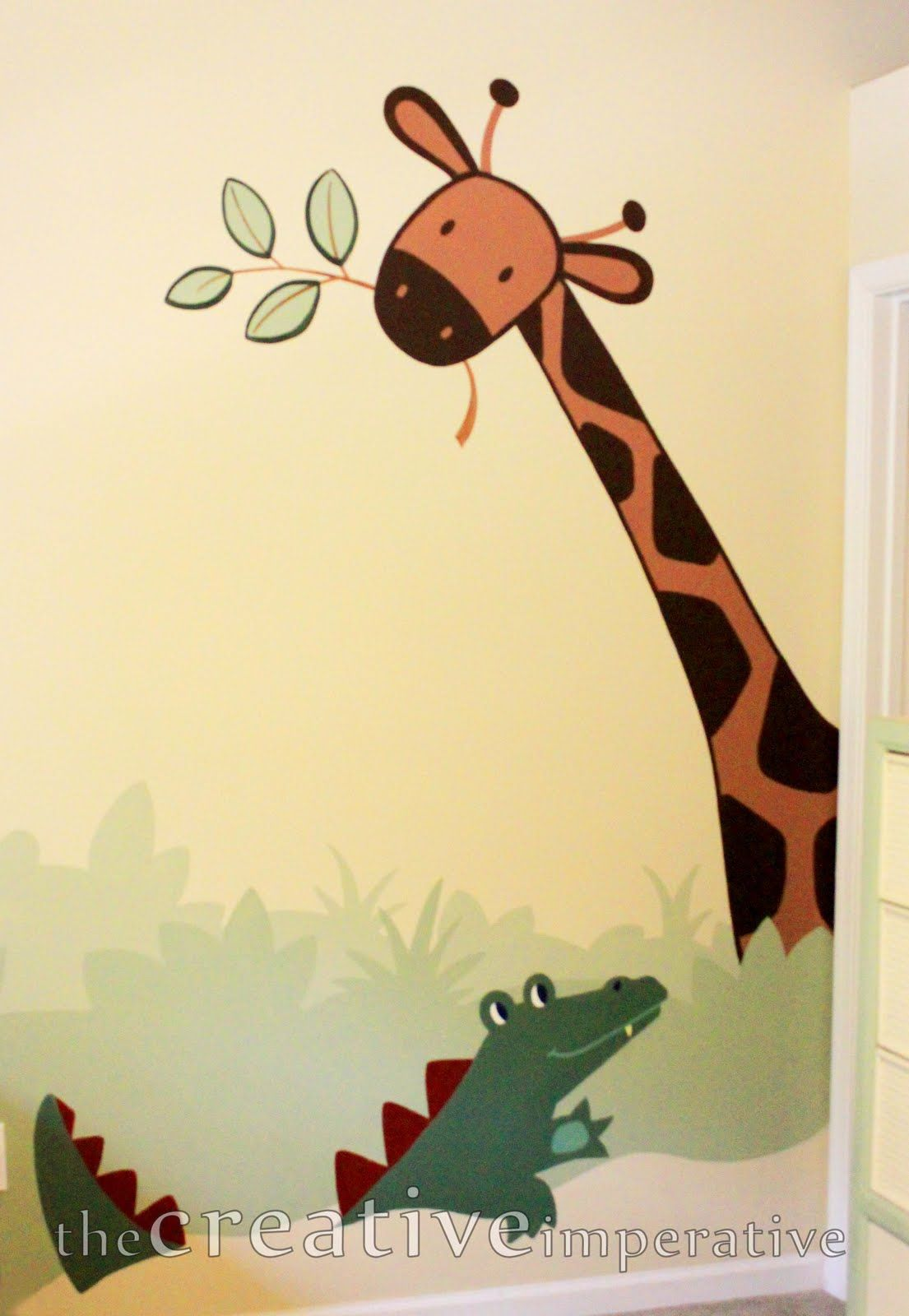 The Creative Imperative: Simple Jungle Mural: Some Tips and Tricks