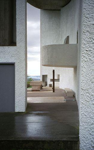 Chapel at Ronchamp/ Notre Dame du Haut. Le Corbuser. Ronchamp,France. 1954