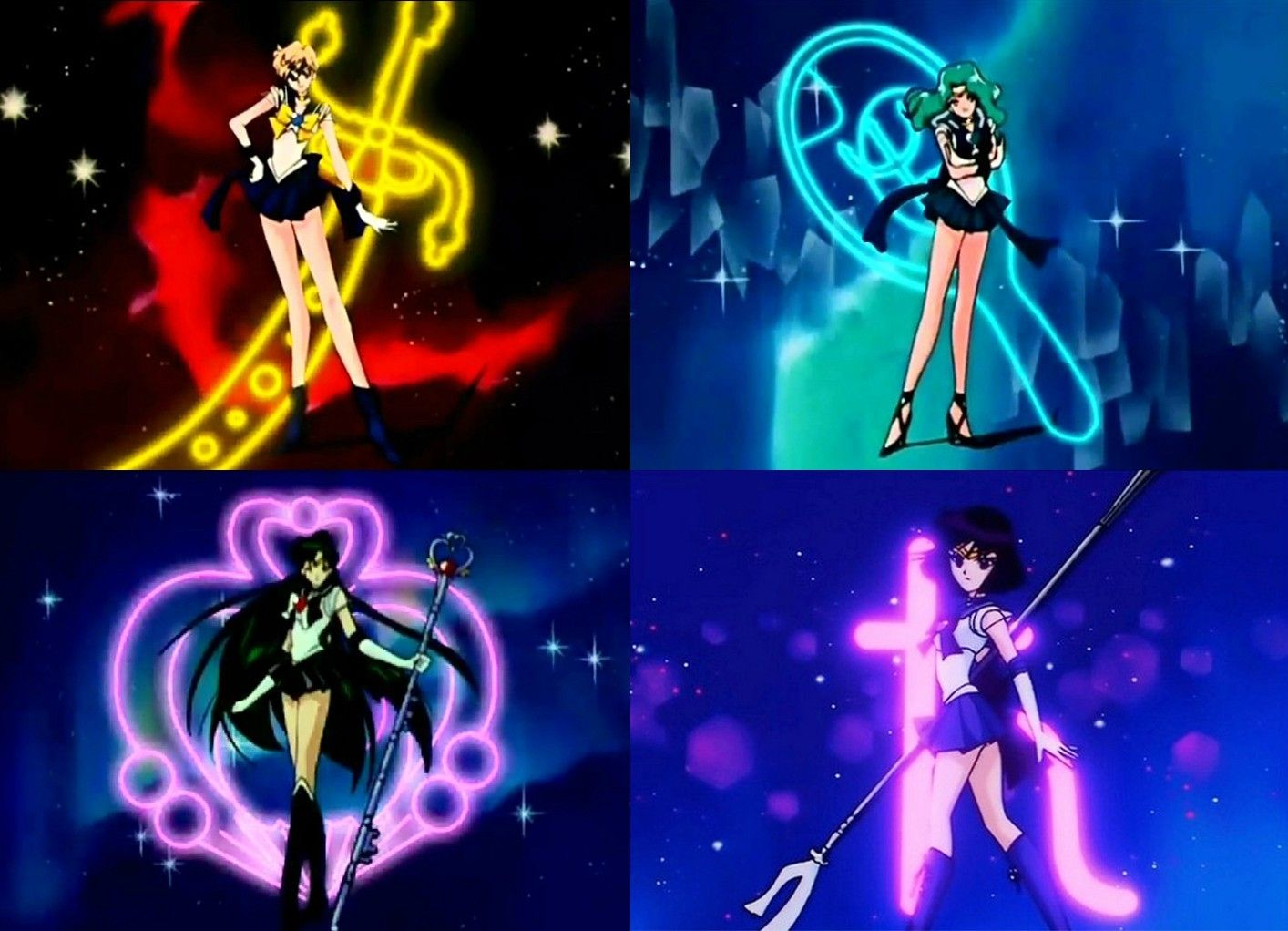 Super Outer Senshi pose