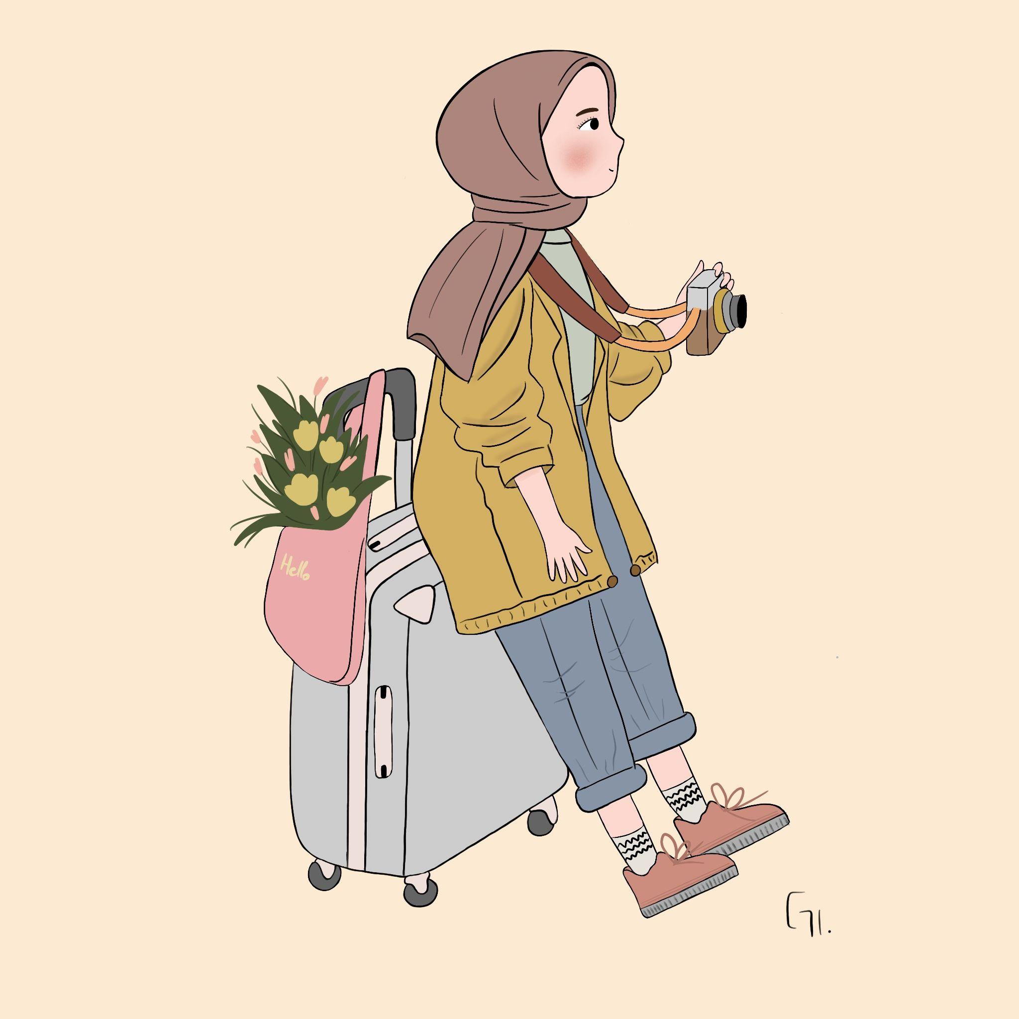 20 Cartoon Muslimah ideas in 20   hijab cartoon, hijab drawing ...