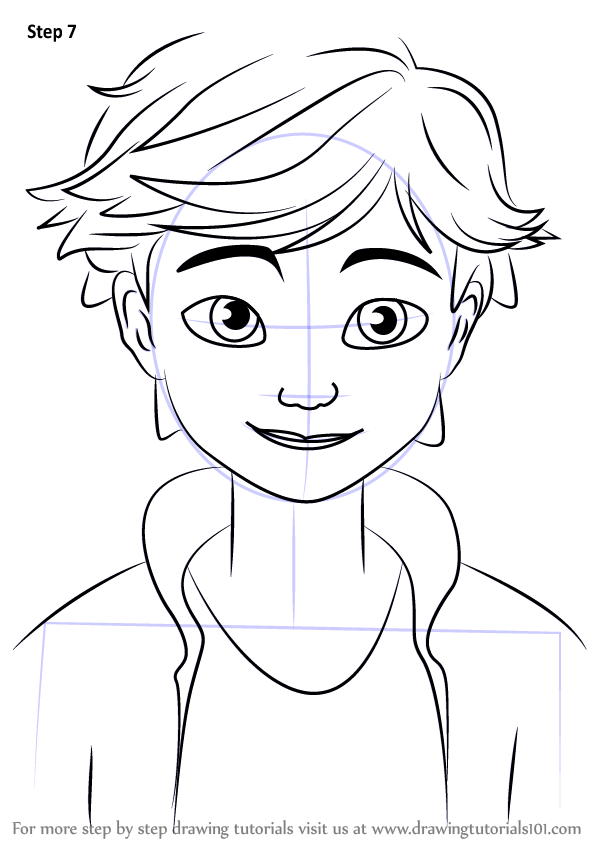 Learn How to Draw Adrien Agreste from Miraculous Ladybug (Miraculous ...