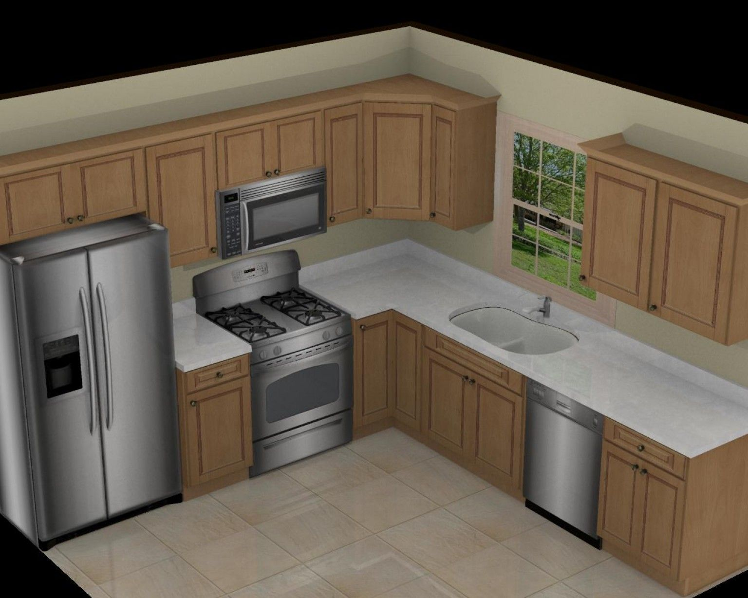 Magnificent x kitchen on pinterest l shaped kitchen for Kitchen cabinets 10 x 12