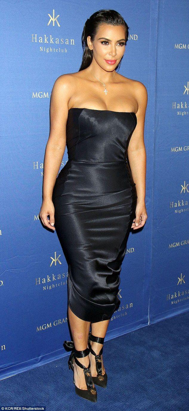 7ae7562429b Brave battle  Kim Kardashian had a hosting gig at Hakkasan nightclub in Las  Vegas on Frida.
