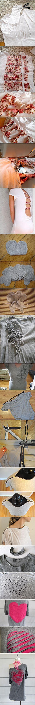 6 maneras originales para transformar una vieja camiseta con las manos   Zvezdastok