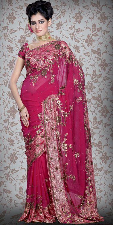 magenta-color-faux-georgette-wedding-saree-designer-sarees-indian-saree-designs.jpg (378×750)