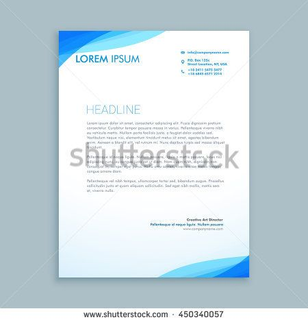 gold color vector illustration elegant blue letterhead template - business memorandum template